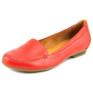 Naturalizer Saban Women Round Toe Leather Red Loafer