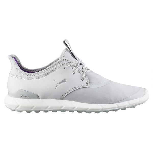 67229b75bf66 Shop Puma Women s Ignite Spikeless Sport Golf Shoes Grey White ...