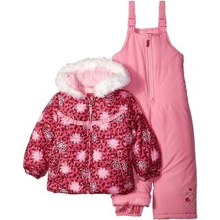 London Fog Girls 4-6X Floral Puffer Jacket Snowsuit