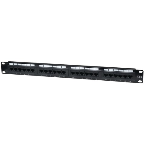 Intellinet Network Solutions(R) - 513555 - Cat5e Patch Panel 24 Port