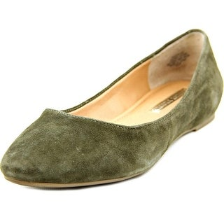 Audrey Brooke Mojito Women Pointed Toe Suede Green Flats