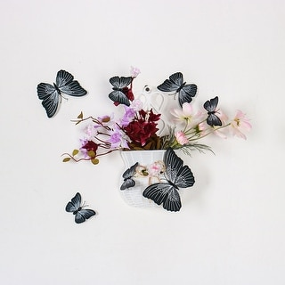 24pcs 3D Butterfly Wall Stickers Decal Sticker for Decoration Black