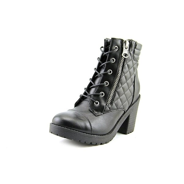 Rampage Womens HARRISON Round Toe Ankle Combat Boots