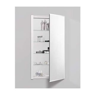 "Robern RC2036D4FB1 R3 20"" x 36"" x 4"" Beveled Single Door Medicine Cabinet with R"