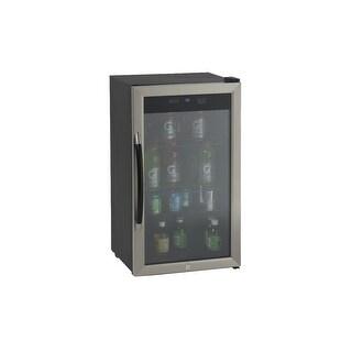 Avanti BCA306 3.1 Cu. Ft. Beverage Cooler - Black/Stainless Steel