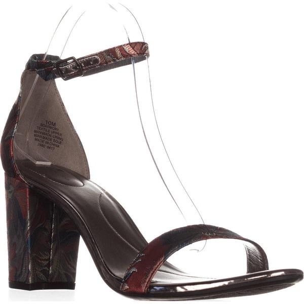 Bandolino Armory Heeled Ankle Strap Sandals, Blue Multi - 10 us