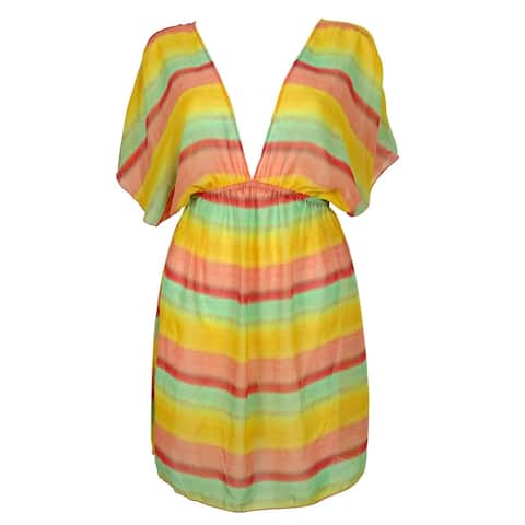 Miken Women's Chiffon Multi-Color dress Swim Cover ups - Multi