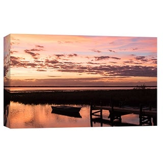 """PTM Images 9-101822  PTM Canvas Collection 8"""" x 10"""" - """"Lake Lochloosa #1"""" Giclee Boats Art Print on Canvas"""