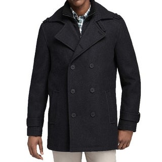 Andrew Marc Men's Penn Coat, Charcoal, X-Large NYC