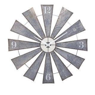 "IMAX Home 47608  48"" Diameter Ward Analog Wall Clock - Gray"