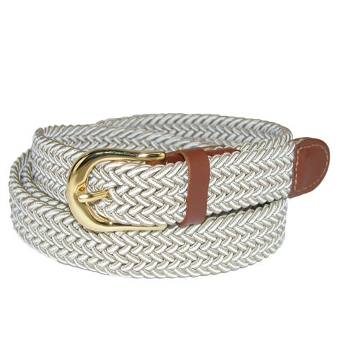 CTM® Women's Multi Color Elastic Braided Belt
