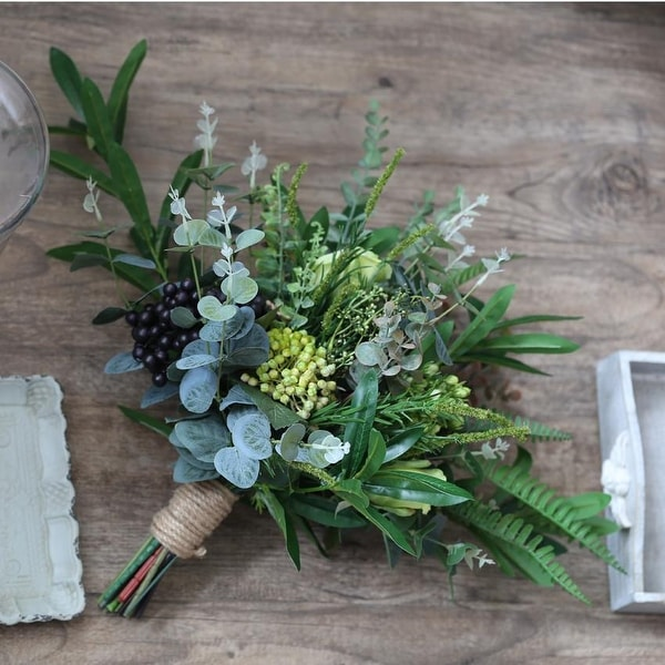 df70ebc85b Wedding Bouquet Rustic Country Berry Bridal Bouquet - Green