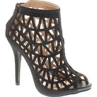 Bonnibel Cleo-3 Women's Back Zipper Stiletto Heel Cut Out Caged Sandals