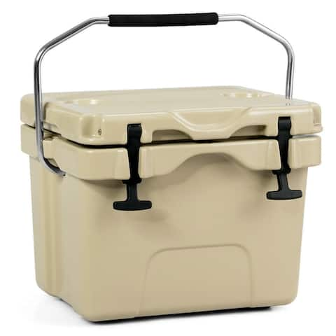 16 Quart Portable Ice Cooler with 24 Cans