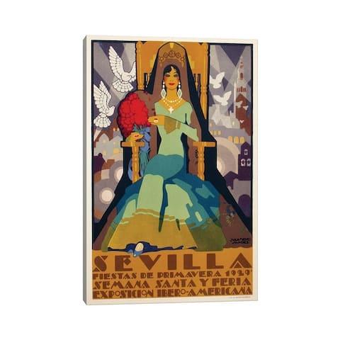 "iCanvas ""Sevilla Green Dress, 1929"" by Vintage Apple Collection Canvas Print"