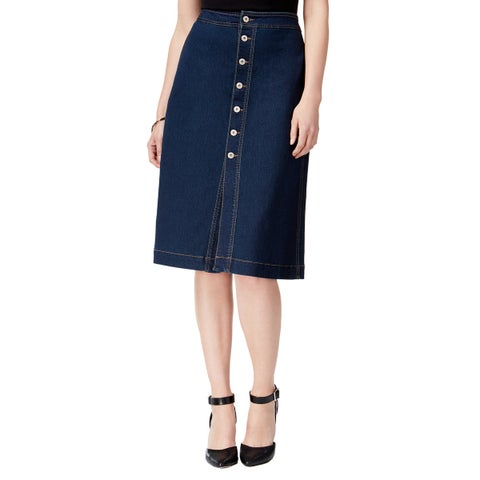 Style & Co Button Front Straight Skirt Faroe - 4