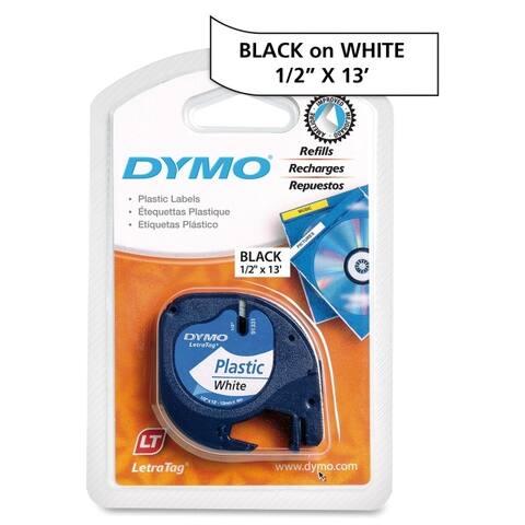 Dymo 91331 1/2inch (12 mm) plastic letratag tape - White
