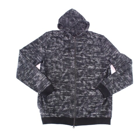 Travis Matthew Gray Mens Size XL Full Zip Printed Hooded Sweater