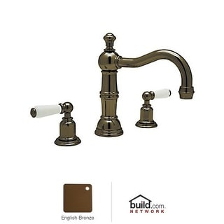 Rohl U.3720L-2 Perrin and Rowe Widespread Bathroom Faucet with Pop-Up Drain and Metal Lever Handles