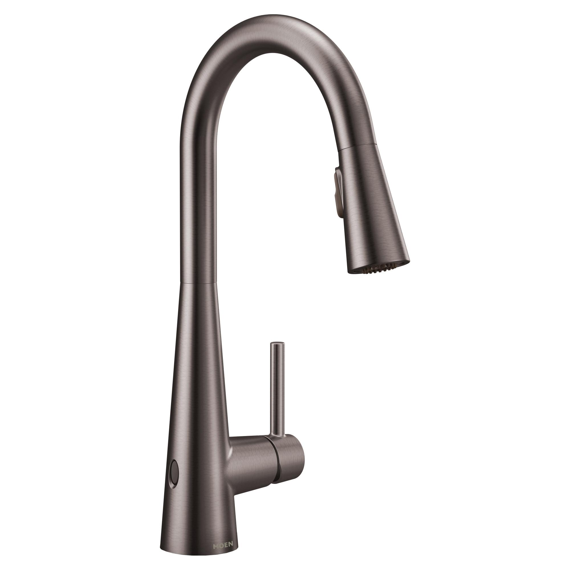 Moen 7864EW Sleek 1.5 GPM Single Hole Pull Down Kitchen Faucet with Reflex,  MotionSense Wave, Duralast, Duralock, and Power