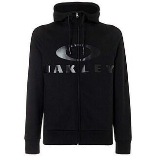 Oakley Mens Bark Fz Hoodie, Blackout, Xxl