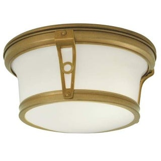 """Norwell Lighting 5383 Leah 2 Light 13"""" Wide Flush Mount Ceiling Fixture with White Glass Shade"""