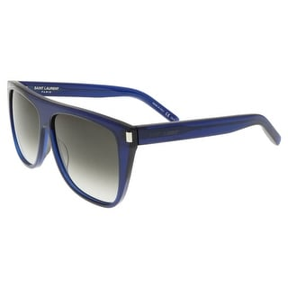 Saint Laurent SL 1-005 Dark Navy Flat Top Rectangle Sunglasses