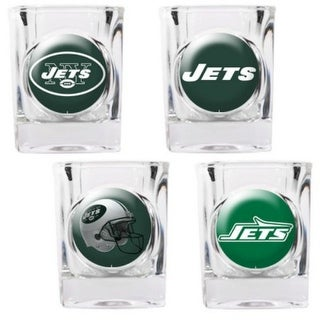 Great American Products New York Jets Shot Glass Set 4pc Collectors Shot Glass Set