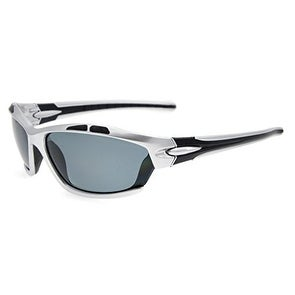 Eyekepper Polycarbonate Polarized Sport Sunglasses Running Fishing Driving TR90 Unbreakable Silver Frame Grey Lens