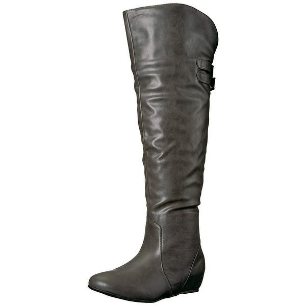 20c44a46281 Shop Brinley Co Women's Wing Over The Knee Boot - Free Shipping On ...