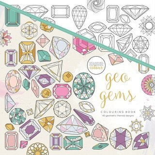 "KaiserColour Perfect Bound Coloring Book 9.75""X9.75""-Geo Gems"