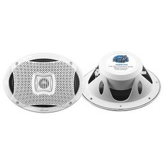 500 Watts 6''X9'' 2-Way Marine Speakers (White Color)