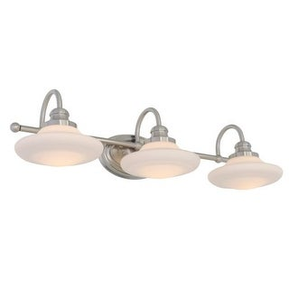 Miseno MLIT137292 Santi 3-Light Bathroom Vanity Light - Reversible Mounting Option