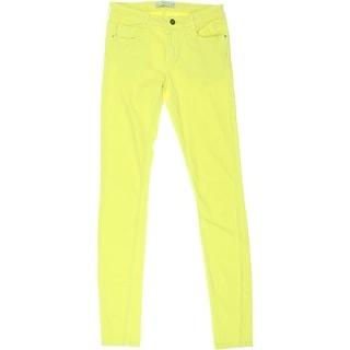 Zara Trafaluc Womens Colored Mid-Rise Skinny Jeans - 4