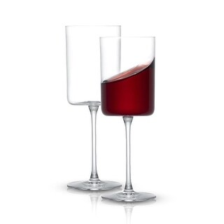 Link to JoyJolt Claire Crystal Red Wine Glasses 14 oz, Set of 2 Similar Items in Glasses & Barware