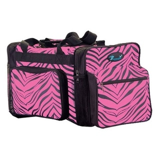 Pizzazz Hot Pink Zebra Print Girls Dance Sport Travel Bag - One Size