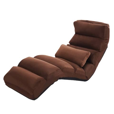 """Costway Folding Lazy Sofa Chair Stylish Sofa Couch Beds Lounge Chair - 69"""" X 21"""" X 7"""""""