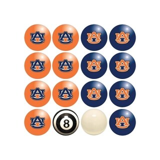 NCAA Auburn Billiard Balls Complete Set of 16 Balls