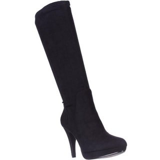 Adrienne Vittadini Premiere Stretch Knee-High Boots - Black