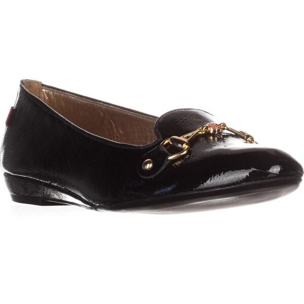 Marc Joseph Bryant Park Flat Loafers, Black Patent