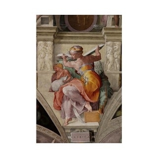 Easy Art Prints Michelangelo's 'Libyan Sibyl, Sistine Chapel' Premium Canvas Art