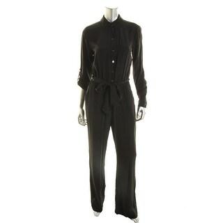 Diane Von Furstenberg Womens Silk Pull-On Jumpsuit - 0