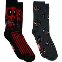Marvel Comics Deadpool Stripe Casual Crew Socks, 2-Pack, 6-12