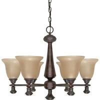 "Nuvo Lighting 60/100 Mericana 6-Light 25-1/4"" Wide Chandelier - Old Bronze"