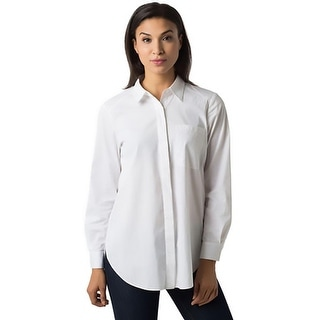 New Nexx York Womens Button-Down Top Pocket Collar