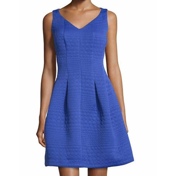 6fa3549f1d8 Shop Taylor NEW Blue Circle Textured Women s Size 8 Pleated A-Line Dress -  Free Shipping On Orders Over  45 - Overstock.com - 18377313