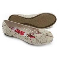 Soda Shoes Women's Crest Crochet Bow Flats