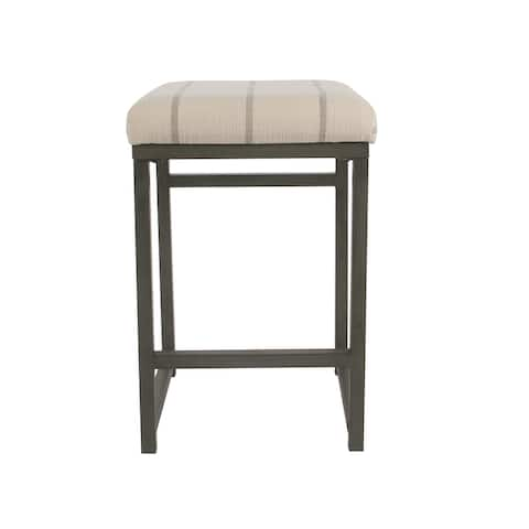 """HomePop Open Back 24"""" Counter Stool - Wicker Gray - 24 inches"""