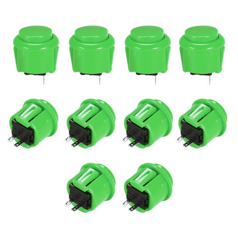 23mm Momentary Game Push Button Switch for Arcade Video Games White 8pcs - Green - 10pcs