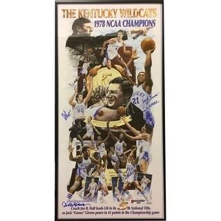 CTBL-021885 14.5 x 28.5 in. 1978 Kentucky Wildcats National